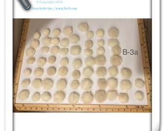 B-3 Ivory White Mink Fur Button for Fur coat sewing decoration 19 mm #30
