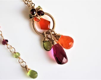 The Tropical Bliss Gemstone Necklace