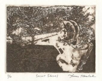 SECRET SHOVEL photo etching limited edition