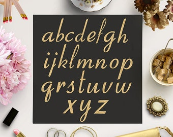BUY 5 FOR 8 Gold Glitter Alphabet, Gold Letters, Glitter Font Clipart, Sparkle Letters, Gold Alphabet, Fancy Gold Type Clipart