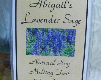 Lavender Sage Soy Melting Tart by Abigail's on Main