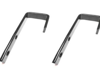 "Bunk Bed Ladder Hooks Vinyl Coated 1"" Inside Clearance (Black) - Set of 2"