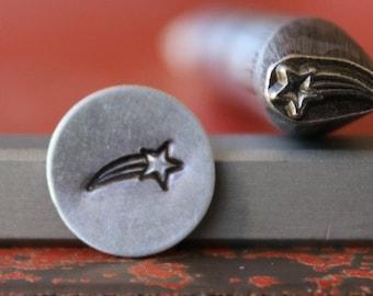 Shooting Star Metal Design Stamp - Metal Stamp - Metal Stamping and Jewelry Tool SGDK-42