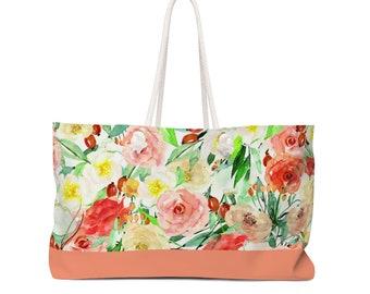 Floral Blossoms Weekender Bag