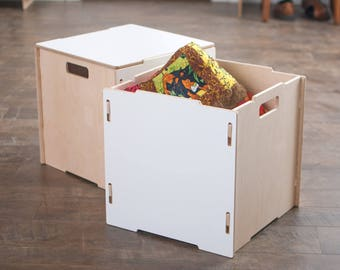 Stackable Wooden Storage Boxes
