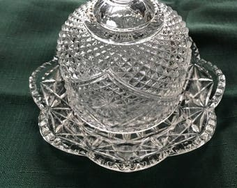 Avon Clear Glass Butter/Cheese Dish