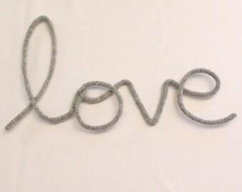 Love - woolen word - wall decoration