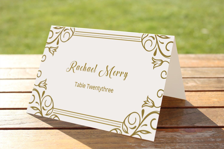 Hochzeit Tischkarte Vorlage Druckbare Tischkarte Sitz Karte