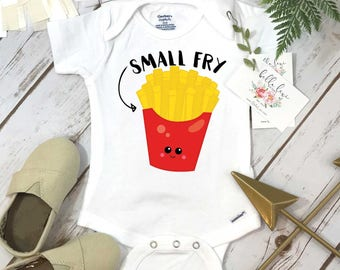 Small Fry Onesie®, Baby Shower Gift, Funny Baby shirts, Fries Baby Shirt, Nephew Gift, Niece Gift, Newborn Baby Gift, Fast Food Clothes,Baby