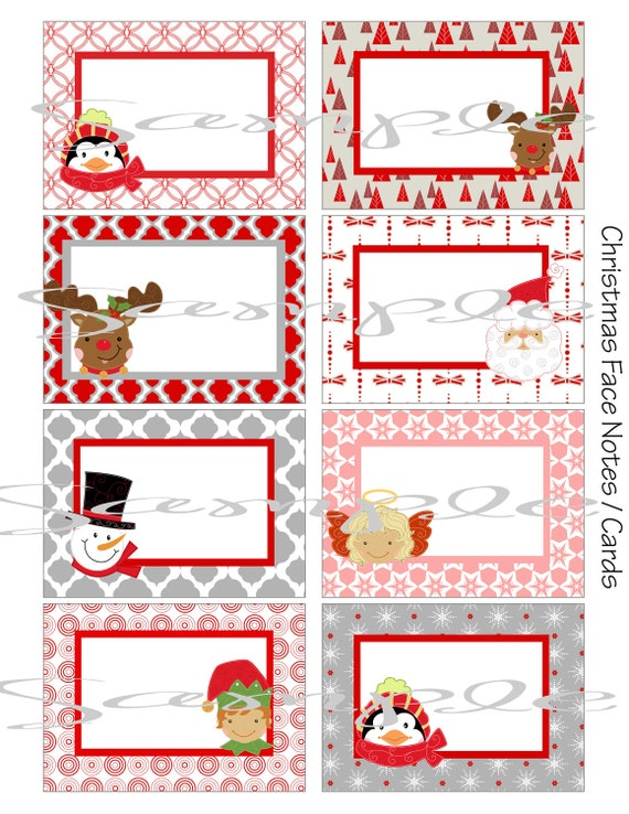christmas note card template