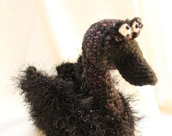 Amigurumi Crochet Pattern - Beautiful Black Swan