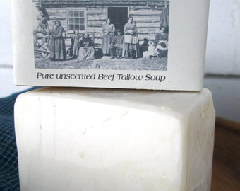 1862 Prairie Tallow Soap Unscented