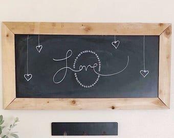 Large Rectangular Chalkboard Menu Board Command Center Board