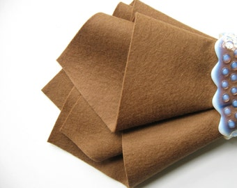 Acorn, Wool Felt Sheet, 100% Wool, Choose Size, Light Brown Felt, Merino Wool, Felt Fabric, DIY Craft Supply, Handwork, Applique, Teddy Bear