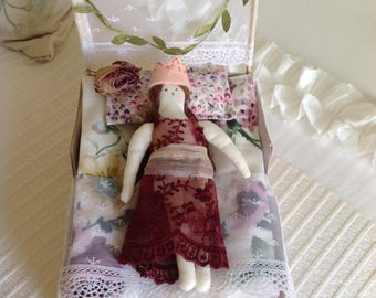 Princess and the Pea doll and bed set.