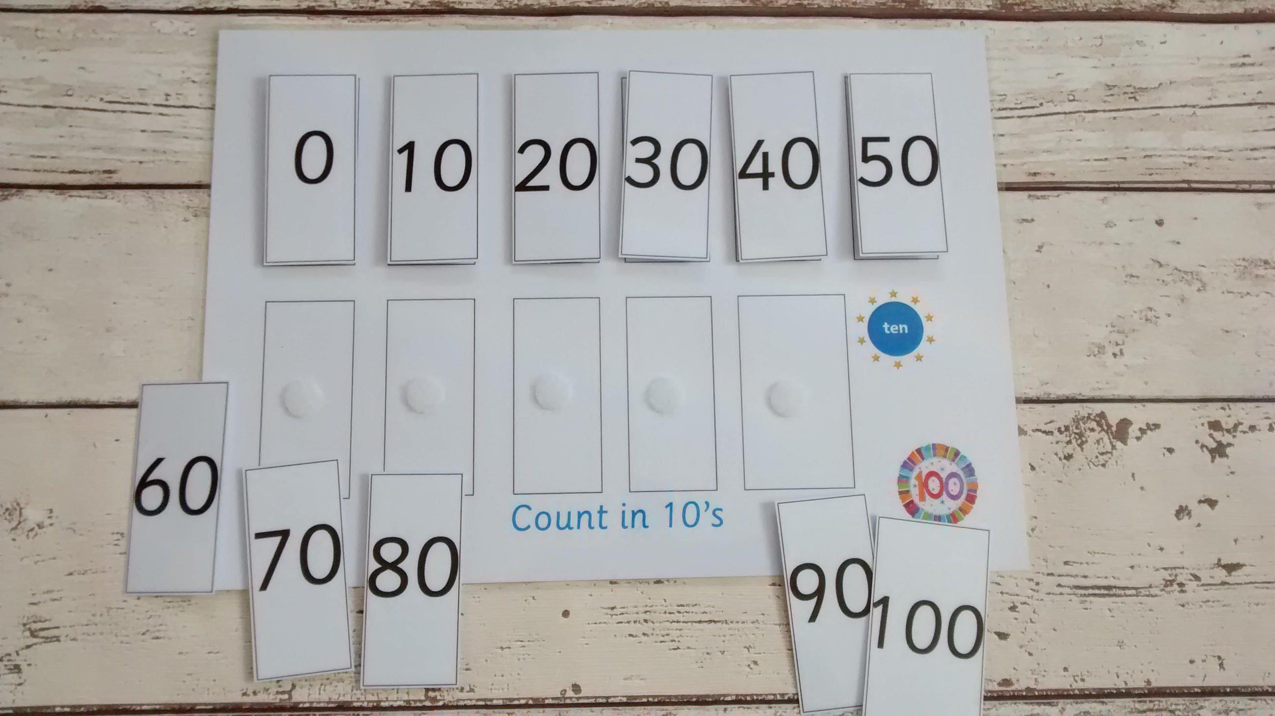 Zählen in 10er rechnen Aktivität für Kinder lernen 10 Mal