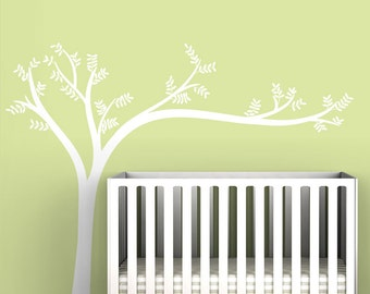 White Leaning Tree Wall Decal by LittleLion Studio