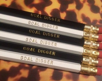 Goal Digger Pencil Set of Six