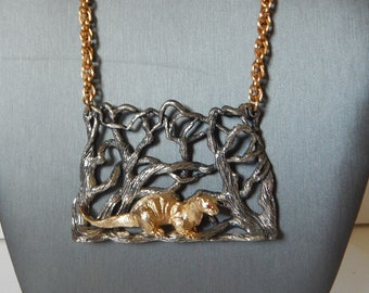 NAPIER Endangered Species Series Otter Necklace - 1972
