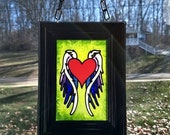 WINGED HEART~stained glas...