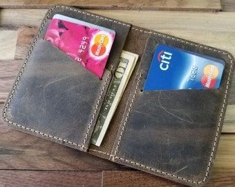 Wallet, Leather Wallet,  Leather Wallet, Front Pocket Slim Design, Minimalist Credit Card Wallet, Mens Leather Wallets Can be Personalized