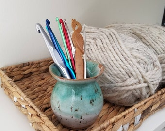 Ceramic Vase | Flower Vase | Pottery Vase | Small Vase | Small Ceramic Vase | Crochet Hook Holder