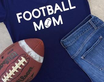 Football Mom | Shirt - Football Shirt - Team Shirt - Football - Custom Colors Available