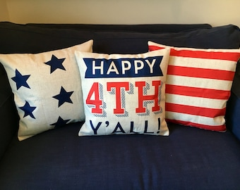 Happy 4th Y'all pillow