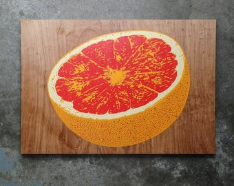 Limited Edition Citrus Wood Print