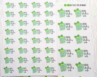 Sticker Sale Markers // Bottled Tea Designs (Set of 36 Minis or 24 Large) Item #645
