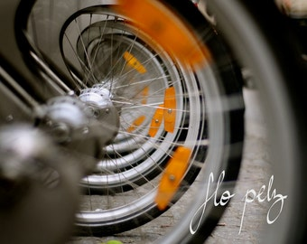 """Fine Art Photography, Bike Photography, Bicycle, Abstract photography, Wheels, Urban Landscape, Wall Art,  Print - Spiral. 8X10"""" or 16x20"""""""
