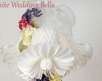 HONEYCOMB BELLS 11 INCH / Tissue paper decorations / wedding decorations / party decorations / nursery decorations / honeycomb  / garland