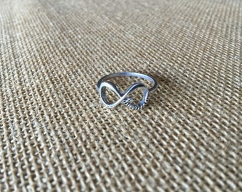 Sterling Silver Directioner Infinity Ring - for Directioners - One Direction Ring