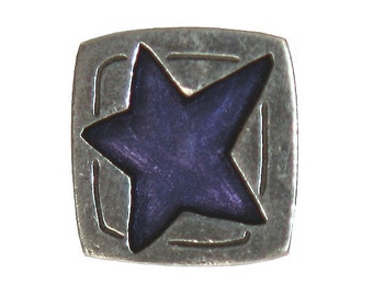 Danforth Blue Star 5/8 inch ( 16 mm ) Pewter Shank Button