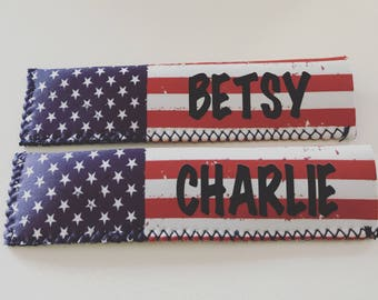 Personalized Distressed American Flag Popsicle Sleeves, Popsicle Sleeve, Popsicle Holder, Personalized Popsicle Sleeve, Popsicle