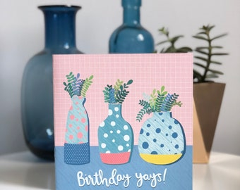 Birthday Yays! Square birthday card