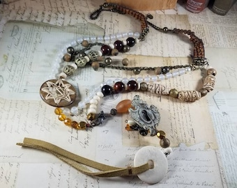 Through the Keyhole Assemblage Necklace