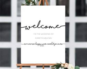 Personalised Wedding Welcome Sign • Print and Download options available •