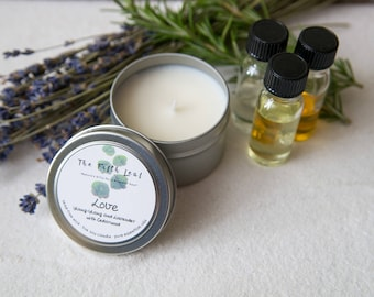 Soy and Essential Oil Candle with Ylang-Ylang, Lavender, and Cedarwood - 4 oz.