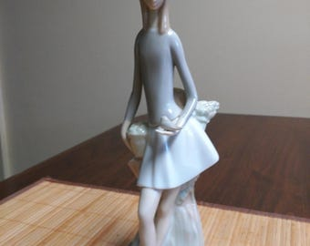 Vintage NAO Porcelain Girl with Dove