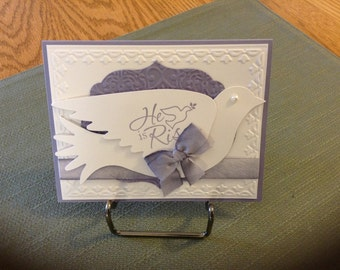 Easter Card With Beautiful White Dove