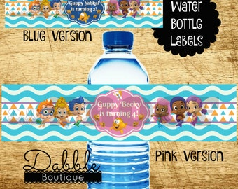 Bubble Guppies Water Bottel Labels / Bubble GuppiesWater Bottle Wrappers