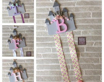Princess Castle Bow Clip Holder Personalised