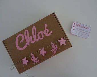 Box personalized with baby's name birth