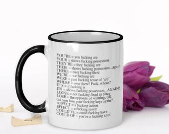 Grammar Coffee Mug, Grammar Police Coffee Mug, Funny Grammar Mug, English Teacher Mug, Funny Grammar Gift, Grammar Police Mug, Grammar Gift