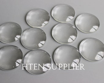 18mm Round Clear Glass Cabochons ,18mm Magnify Glass Dome, 18MM Flat Back transparent Glass Covers,Top quality