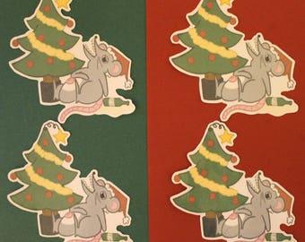 Drunk Christmas Rat Sticker