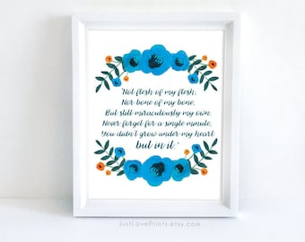 Adoption Poem | 8x10 Print | Inspirational Adoption Art