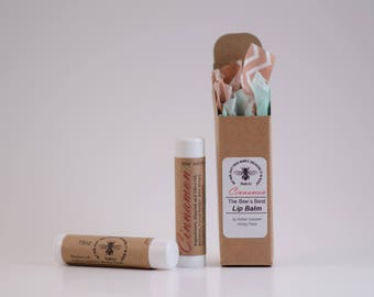All-Natural Cinnamon Honey Lip Balm .15oz (Free Shipping in U.S.) for both men and women