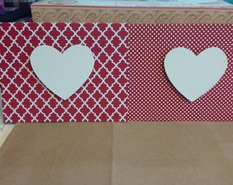 Red Valentines Day Card  - Blank on the Inside - Set of 2